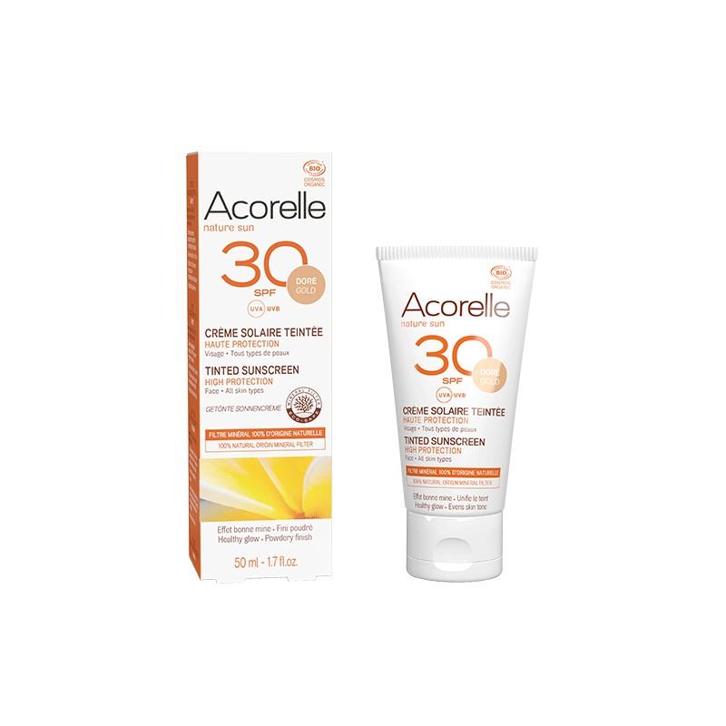 Crème Solaire Teintée Certifiée BIO SPF30 50ml | Acorelle