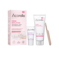 Crème Dépilatoire Visage et zones sensibles 75ml   80% d'origine naturelle  ACORELLE